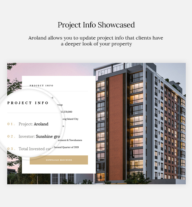 Aroland is a Single Property Landing Page