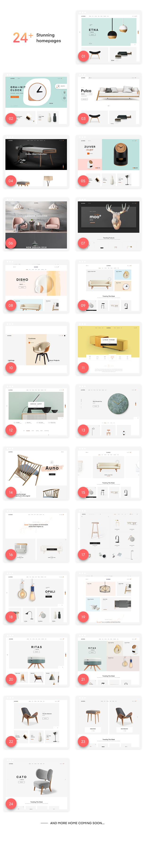 24+ Awesome Shopping Homepages of Auros Furniture Elementor WooCommerce Theme