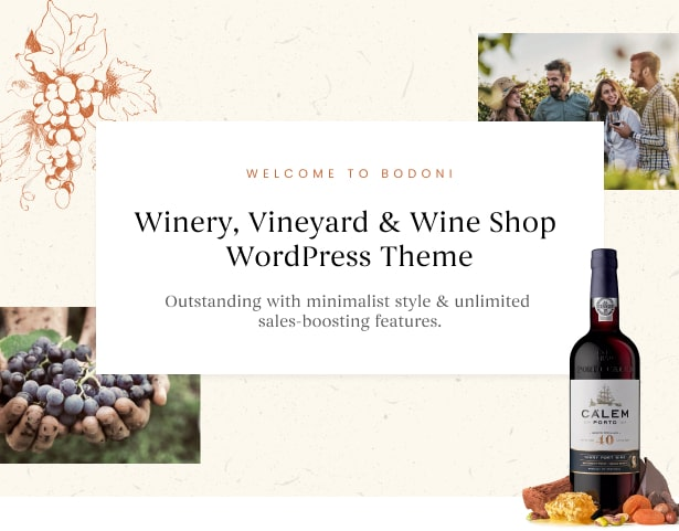 Bodoni - Best Wine Shop & Vineyard WordPress Theme