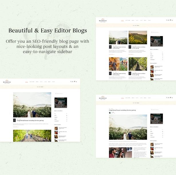 Bodoni - Wine Shop & Vineyard WordPress Theme - Beautiful Blog page