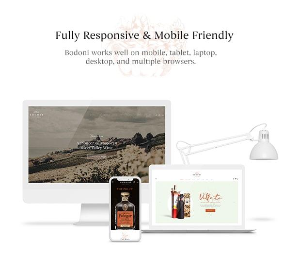 Bodoni - Wine Shop & Vineyard WordPress Theme - Responsive Layout & Mobile-First Design