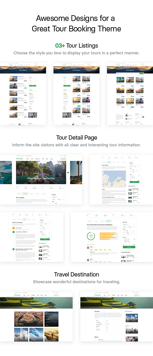 Followme - Tour Booking WordPress Theme