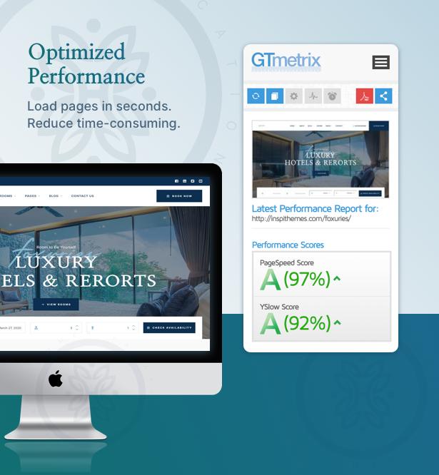 Foxuries - Resort & Hotel WordPress Theme