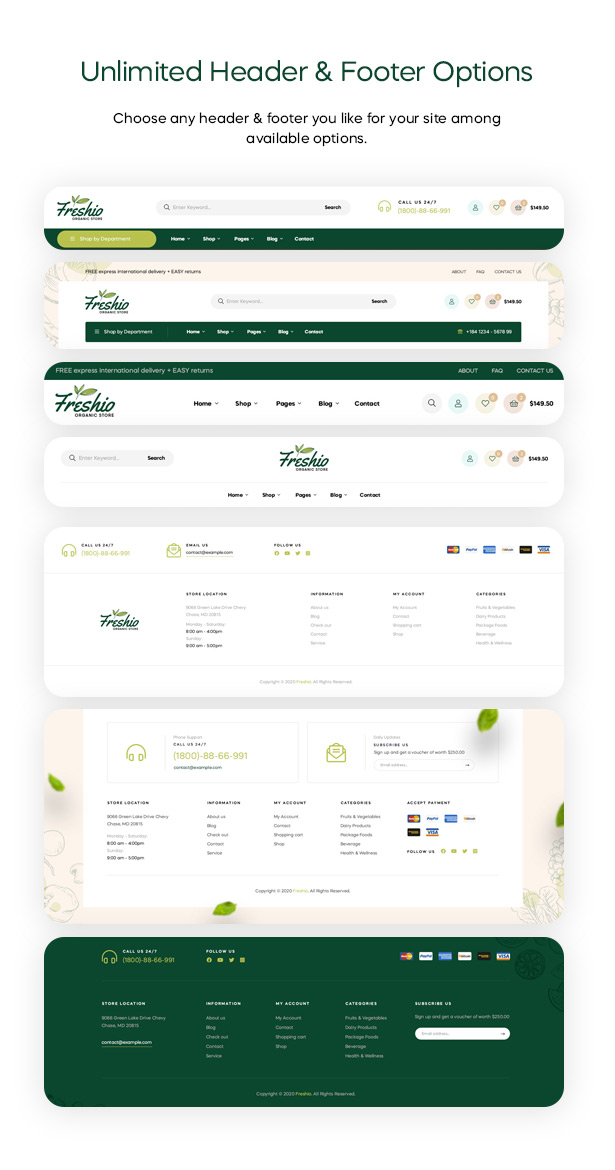 Freshio - Organic & Food Store WordPress Theme