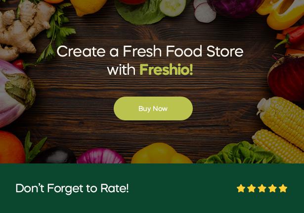 Freshio-オーガニック&フードストアのWordPressテーマ