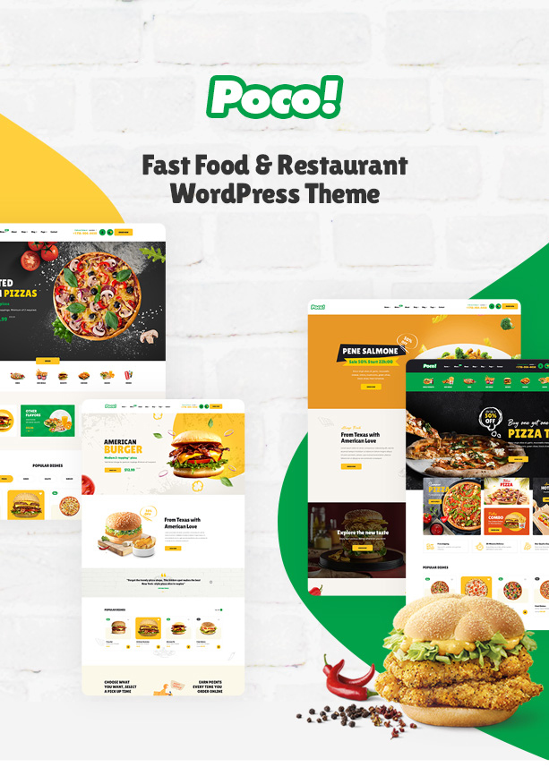 Poco - Fast Food Restaurant WordPress Theme