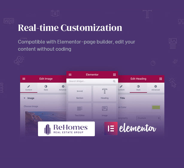 Customize your real estate site with Elementor Page Builder
