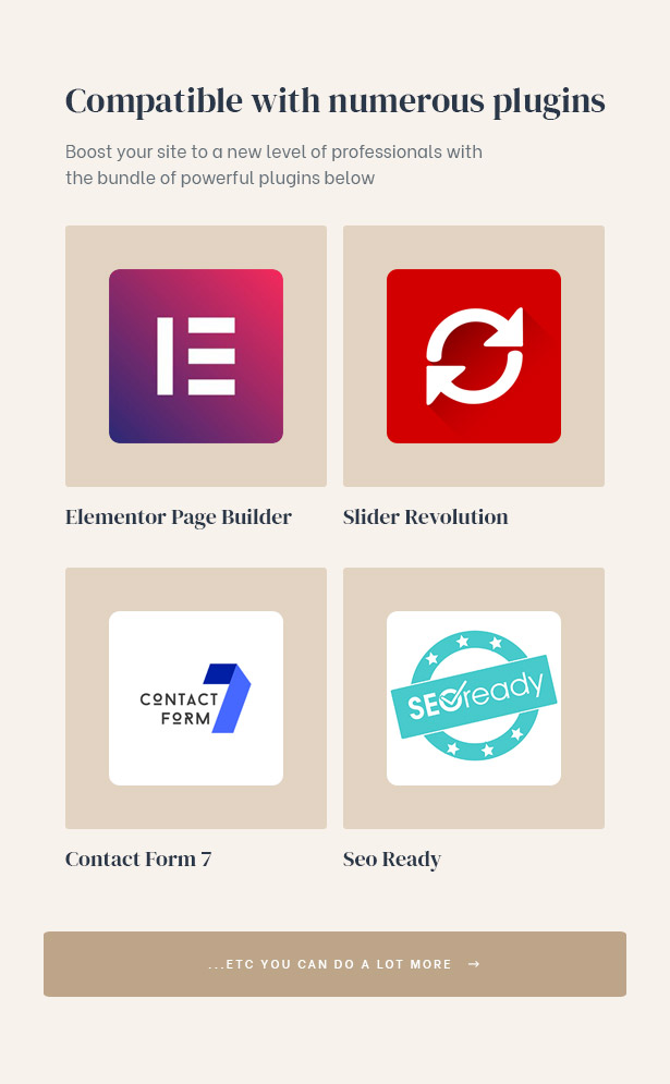 Various powerful plugins to serve your demands of building real estate group site