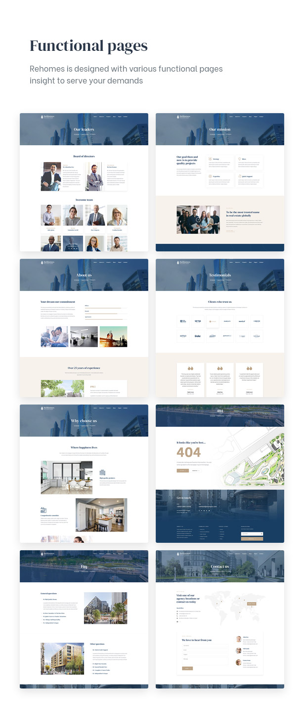 Amazing with functional pages insight for real estae group