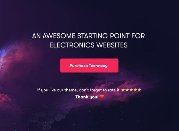 Technocy - Best Electronics Store WooCommerce Theme