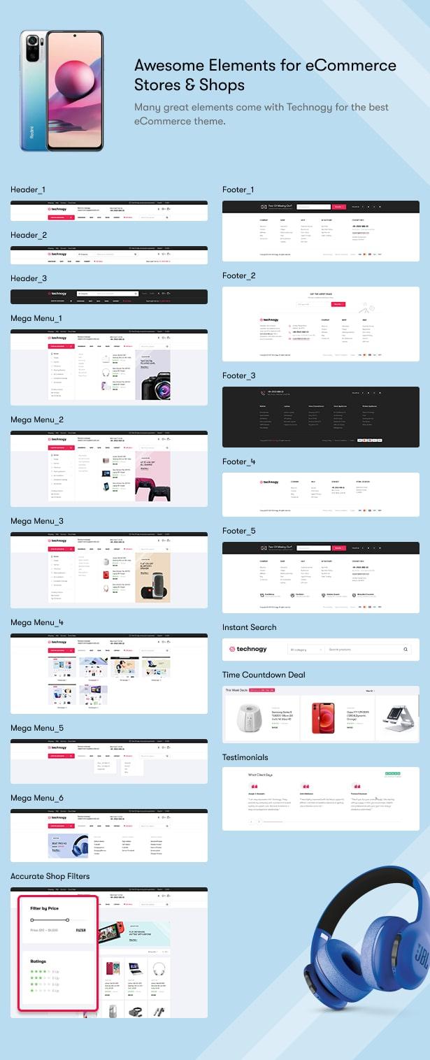 Technocy - Electronics Store WooCommerce Theme - eCommerce elements