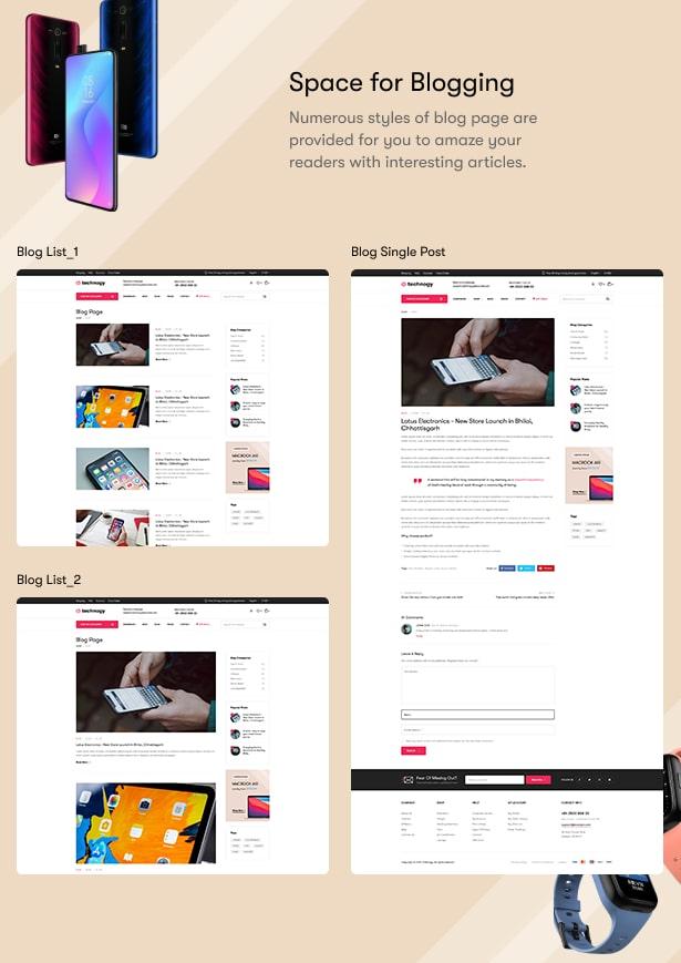 Technocy - Electronics Store WooCommerce Theme - Blog Page