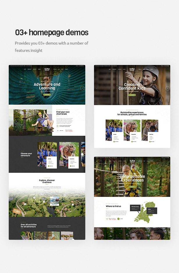 Winwood - Outdoor Activities Centre WordPress Theme