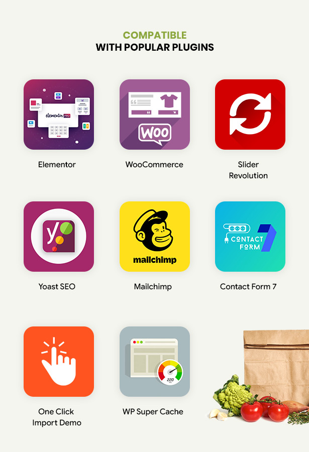 Efway Food Store WP theme with plugins