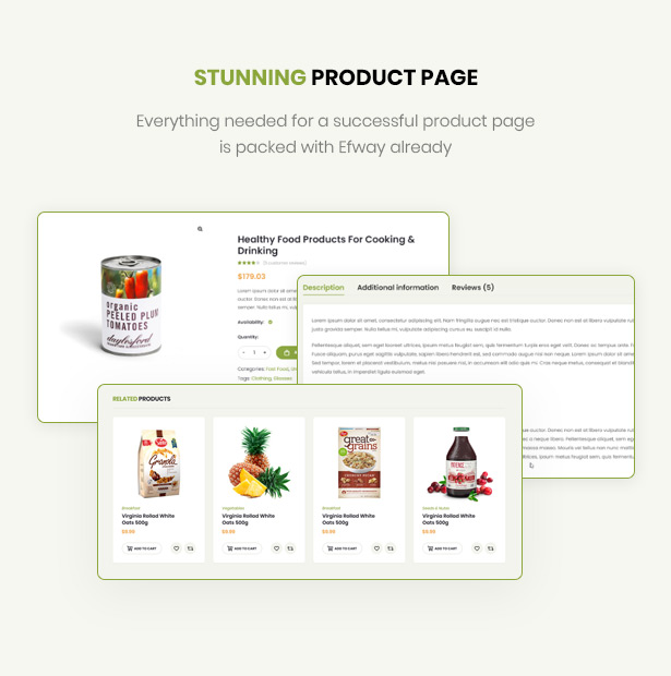 Food Store WordPress Theme well-designed product pages
