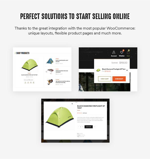 Huntor Hunting Outdoor Shop WooCommerce Theme ready to build Outdoor online shop