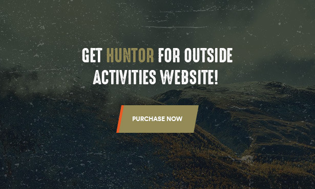 Huntor Hunting Outdoor Shop WooCommerce Theme - Purchase